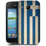 Silicone Case With Greek Flag for Samsung Galaxy Core i8260-i8262