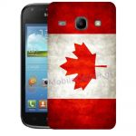 Silicone Case With Canadian Flag for Samsung Galaxy Core i8260-i8262