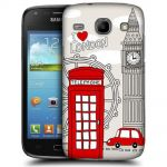 Silicone Case With London City for Samsung Galaxy Core i8260-i8262