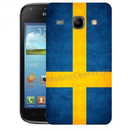 Silicone Case With Sweden Flag for Samsung Galaxy Core i8260-i8262