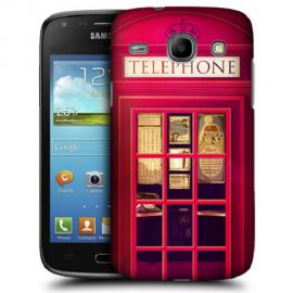Silicone Case London Telephone Booth for Samsung Galaxy Core i8260