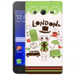Silicone Case London City Symbol for Samsung Galaxy Core 2