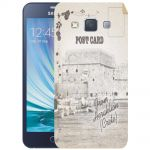 Silicone Case Post Card from Heraklion for Samsung Galaxy A3