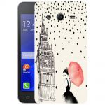 Silicone Case Raining London for Samsung Galaxy Core 2