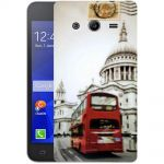 Silicone Case Retro London White for Samsung Galaxy Core 2