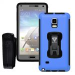 Armor-X Rugged Case with Belt Clip TX-SS-N4 Blue for Samsung Galaxy Note 4