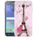 Silicone Case I Love Paris for Samsung Galaxy J5