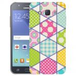 Silicone Case Picnic and Flowers for Samsung Galaxy J5