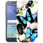 Silicone Case Stones with Butterflies for Samsung Galaxy J5
