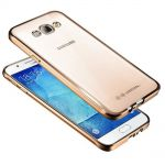 Silicone Case Electro Series Clear-Gold for Samsung Galaxy J3 (2016) SM-J320